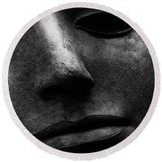 Bronze Mask Round Beach Towel