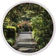 Brookgreen Gardens Path Round Beach Towel