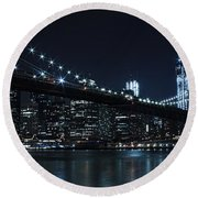 Brooklyn Nights Round Beach Towel