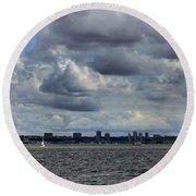 Brooklyn Skyline Round Beach Towel