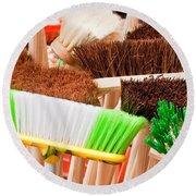 Brooms Round Beach Towel