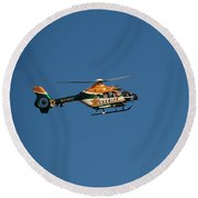 Broward County Sherriff Cop Ter Round Beach Towel