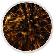 Brushed Gold Round Beach Towel