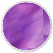 Brushed Purple Violet 1 Round Beach Towel