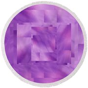Brushed Purple Violet 10 Round Beach Towel