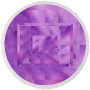 Brushed Purple Violet 11 Round Beach Towel