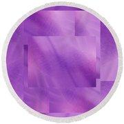 Brushed Purple Violet 5 Round Beach Towel