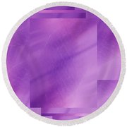 Brushed Purple Violet 6 Round Beach Towel