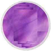 Brushed Purple Violet 7 Round Beach Towel