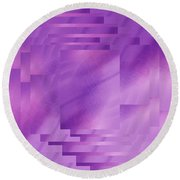 Brushed Purple Violet 8 Round Beach Towel