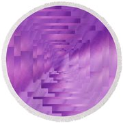 Brushed Purple Violet 9 Round Beach Towel