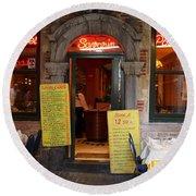 Brussels - Restaurant Savarin Round Beach Towel
