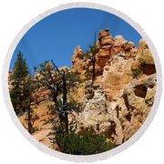 Bryce Canyon Santa Clause Round Beach Towel
