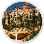 Bryce Water Canyon Round Beach Towel