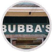Bubba Burgers Round Beach Towel