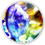 Bubble Abstract 001 Round Beach Towel