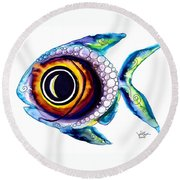 Bubble Fish One Round Beach Towel