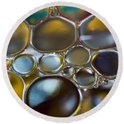 Bubbles II Round Beach Towel