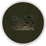Bubbles Of Steam Black Round Beach Towel