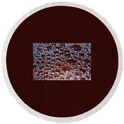 Bubbles Of Steam Cherry Wine Red Round Beach Towel