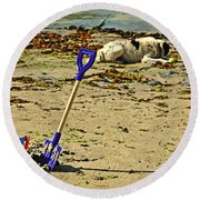 Bucket And Spade Round Beach Towel