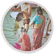 Bucket Wash Round Beach Towel