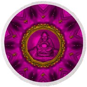 Buddha Also Love The Nature Round Beach Towel