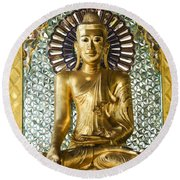 Buddha In Glass Round Beach Towel
