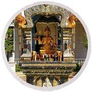 Buddha Shrine Round Beach Towel