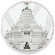 Buddhist Chedi Round Beach Towel