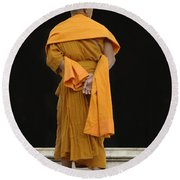 Buddhist Monk 1 Round Beach Towel by Bob Christopher