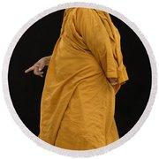 Buddhist Monk 3 Round Beach Towel