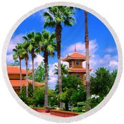 Buddhist Temple Round Beach Towel