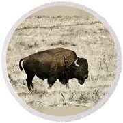 Buff Profile Round Beach Towel