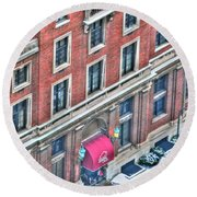 Buffalo Athletic Club Downtown Winter Round Beach Towel