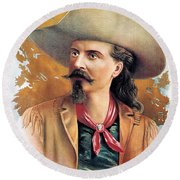 Buffalo Bill Cody, C1888 Round Beach Towel