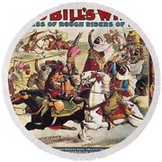 Buffalo Bill: Poster, 1899 Round Beach Towel