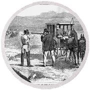 Buffalo Hunting, 1874 Round Beach Towel