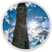 Buffalo Lighthouse 15717c Round Beach Towel