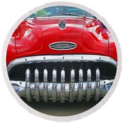 Buick With Teeth Round Beach Towel