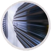 Buildings Abstract Round Beach Towel