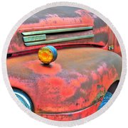 Built Like A Rock Series 03 Round Beach Towel