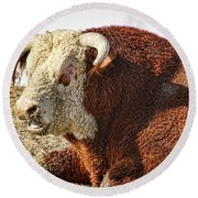 Bull It Is What It Is Round Beach Towel