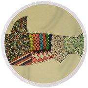 Bull Shark Round Beach Towel