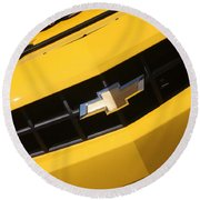 Bumble Bee Grill-7921 Round Beach Towel