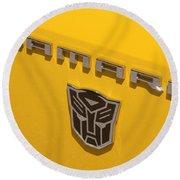 Bumble Bee Logo-7909 Round Beach Towel