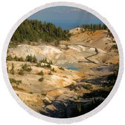 Bumpass Hell Round Beach Towel