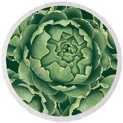 Bunch Of Artichokes Round Beach Towel