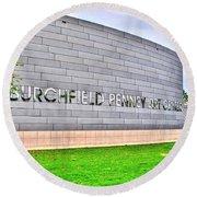 Burchfield Penny Art Center Round Beach Towel