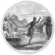 Burma: Dance, 1853 Round Beach Towel